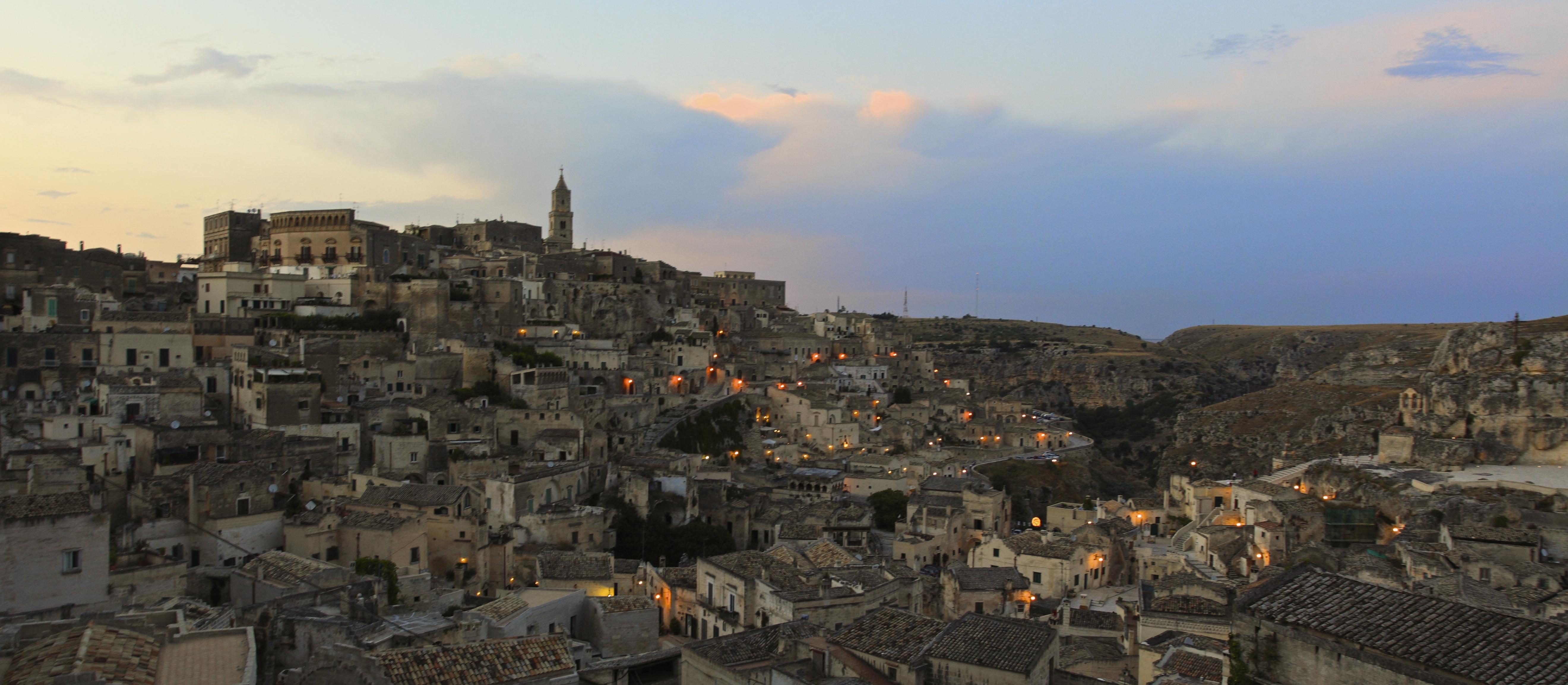Panoramica dei Sassi di Matera